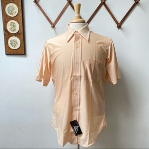 NWT 1970s Vintage Quiana Nylon Button Shirt